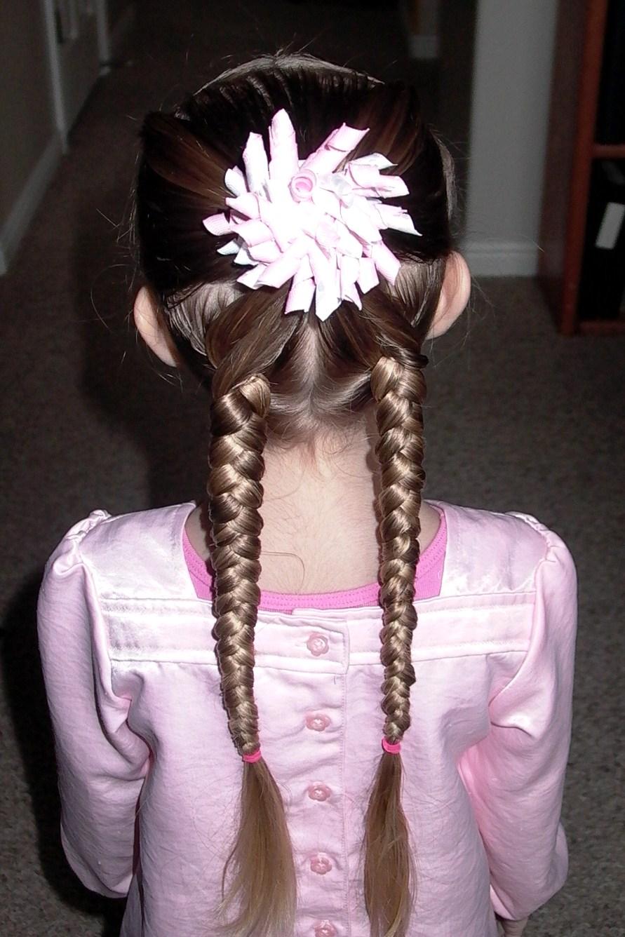 """Little Girl's Hairstyles: """"X"""" Braid Hairdo – Pretty Hair ..."""