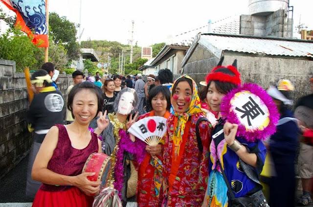 costumed festival goers