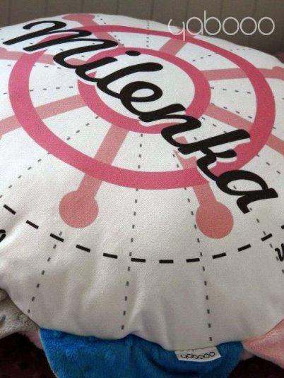 Poduszka z metryczką dla Milenki