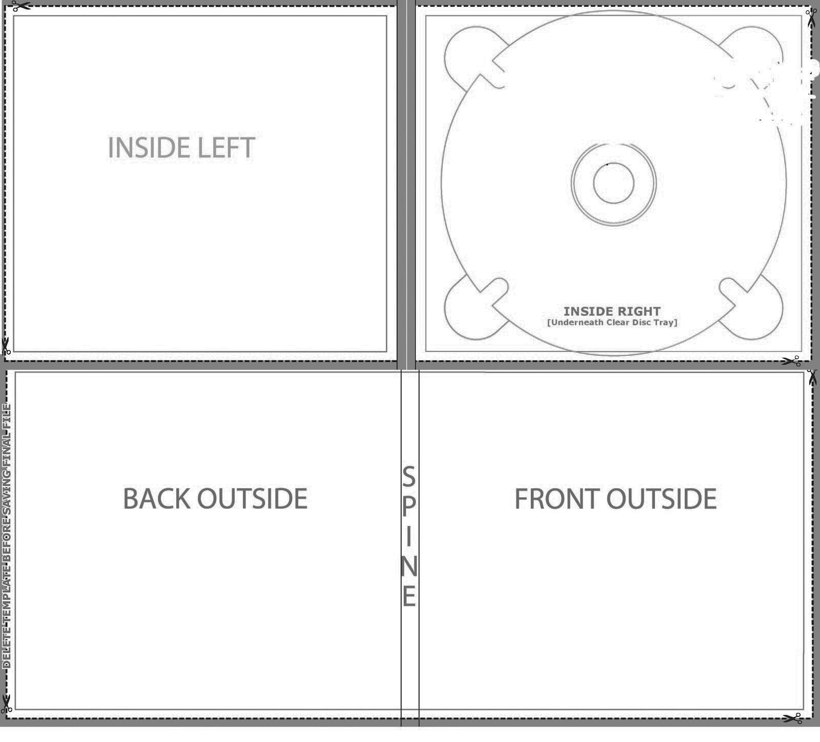 Cd digi case 6 panel template for cd duplication and cd replication.