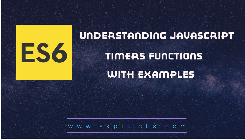 JavaScript timers With Examples