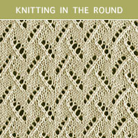Eyelet Lace 65 -Knitting in the round