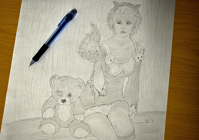 Annie drawing from League of Legends