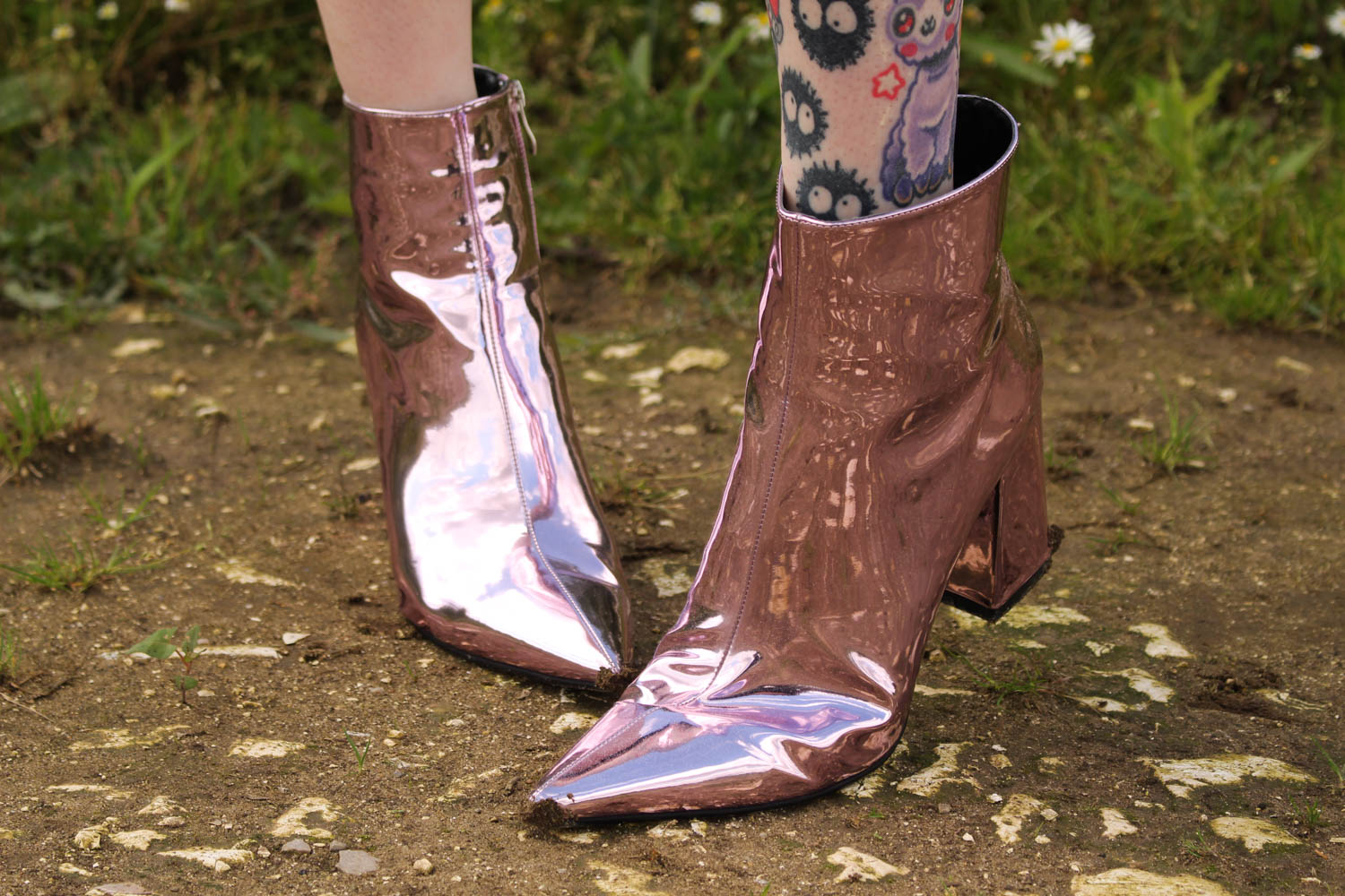 Alternative Style Blogger Styles Ego Metallic Boots