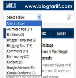 Blogger tricks - Convert Labels list widget to dropdown menu