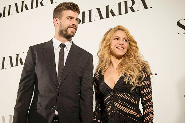 Shakira and Gerard Pique on the album presentation in Barcelona
