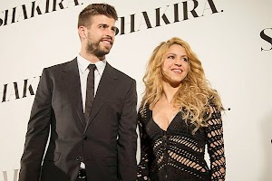 Shakira and Gerard Piqué on the album presentation in Barcelona