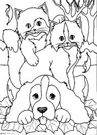 Cute Dog And Cats Coloring Pages