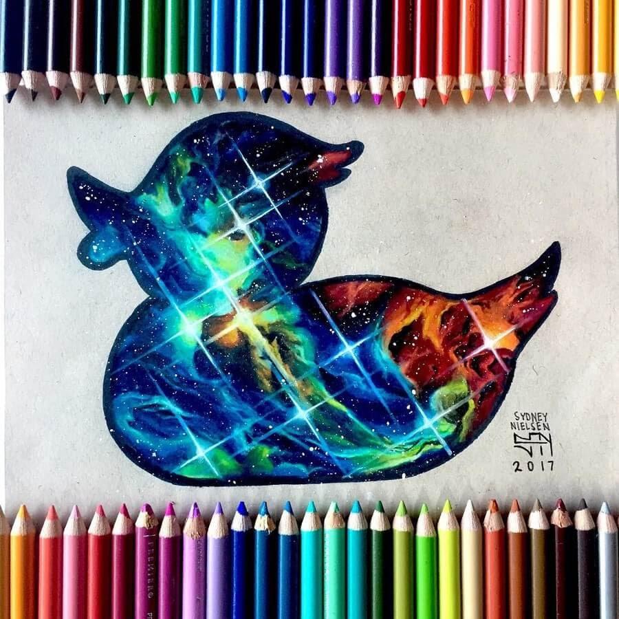 07-Universe-Duck-Sydney-Nielsen-Pencil-Drawings-www-designstack-co