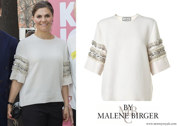 Crown Princess Victoria wore BY MALENE BIRGER Top