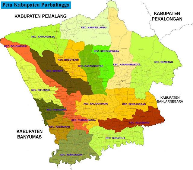 Peta Kabupaten Purbalingga