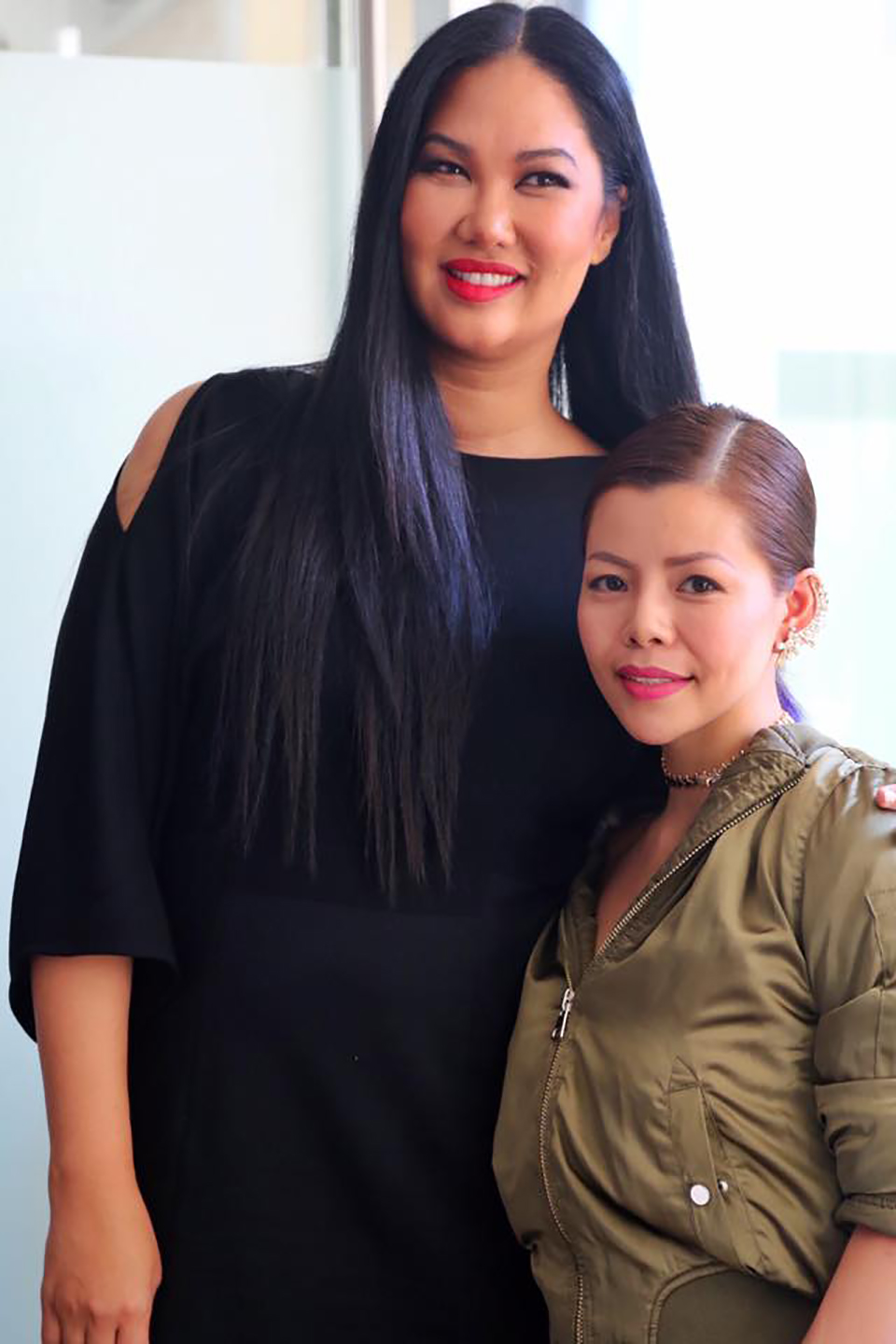 Fashion designer, supermodel Kimora Lee Simpson and Crystal Phuong