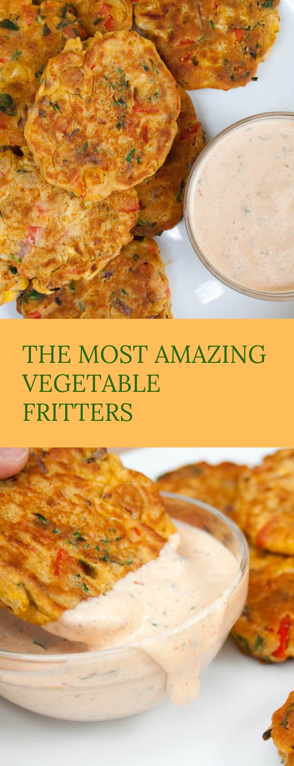 THE MOST AMAZING VEGETABLE FRITTERS #VEGETABLE #DINNER