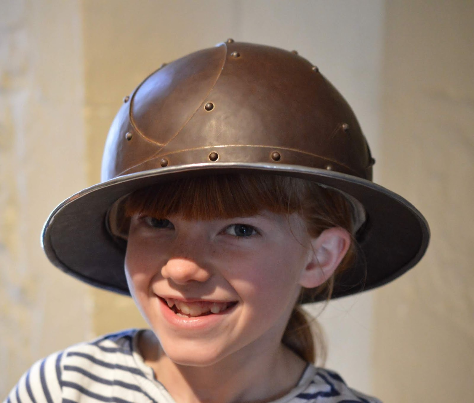 The LNER Family Return Ticket Newcastle-London. #OurLNER #FamilyReturn  - trying on hard hats at the tower of London