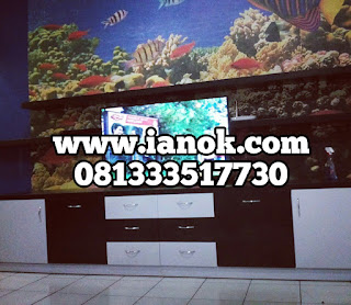 harga Rak/ backdrop TV minimalis murah