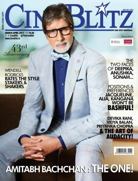 Amitabh Bachchan on The Cover of Cineblitz Magazine Issue March - April 2017