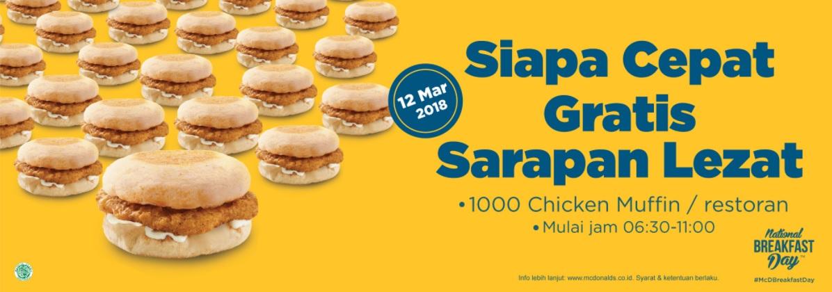Makan Gratis Chicken Muffin Di Mcdonald's Seluruh Indonesia 12 Maret 2018