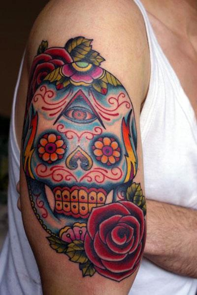 Tattoos Spot Mexican Skull Tattoo