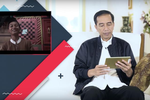 Naruto Membuat Jokowi Bingung