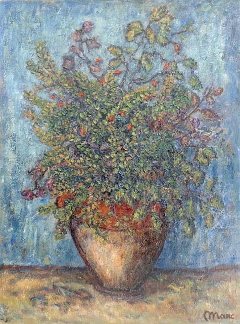 Marc Camps Gandillo pintura impresionista jarrón con flores