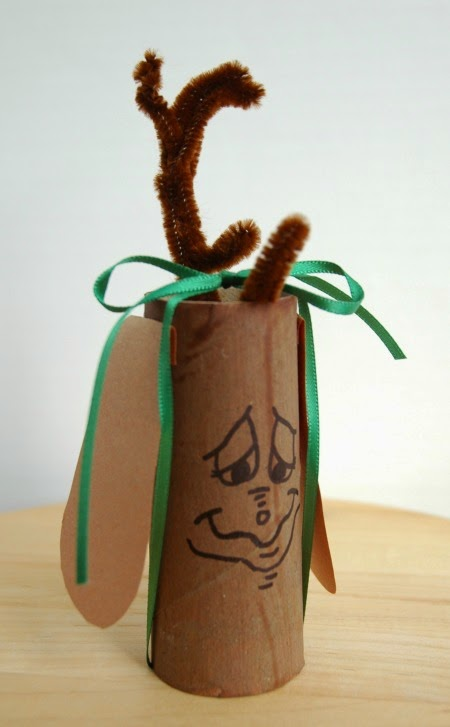 Max the Dog Toilet Paper Roll craft for Grinch