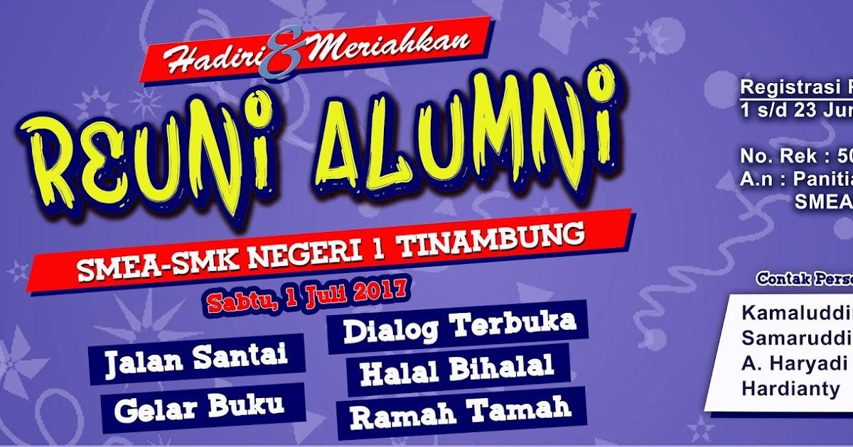 Contoh Banner Reuni Smk - desain banner kekinian