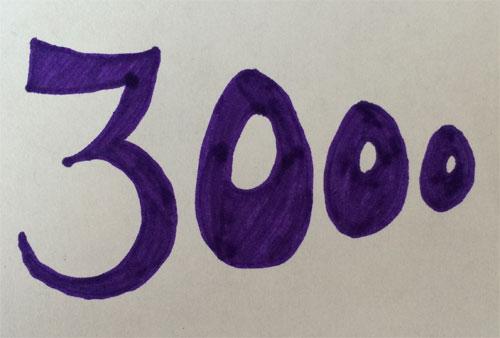 3000 paginabezoeken