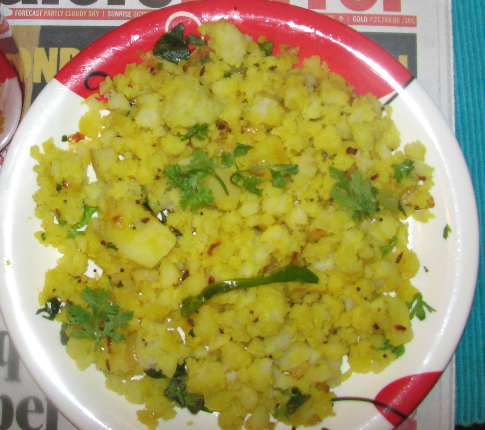 how to make poha maharashtrian dish