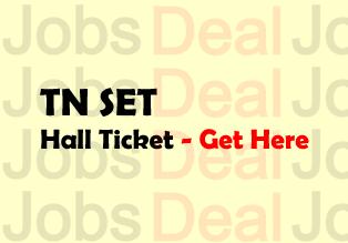TN SET Hall Ticket 2017