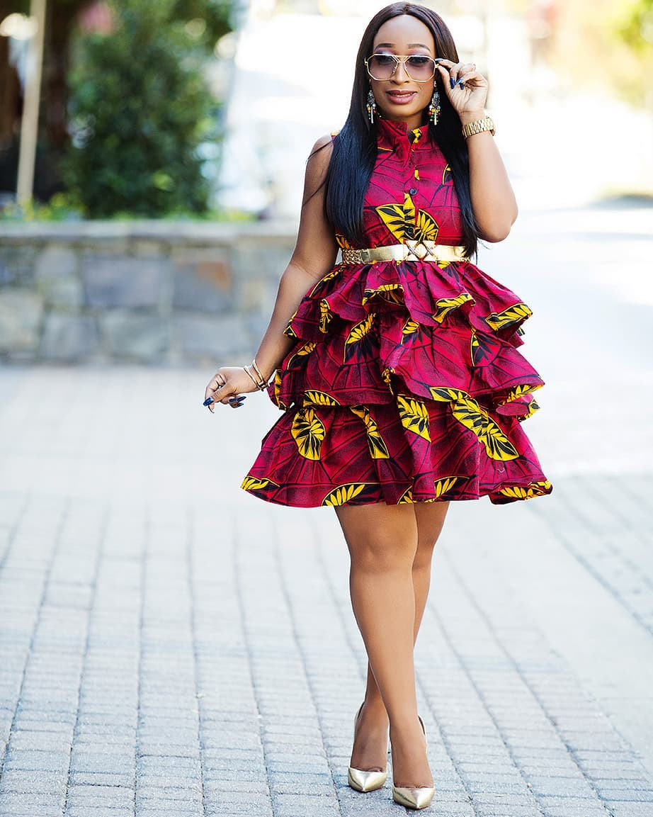 Checkout These Assorted Latest Ankara Trends From Short