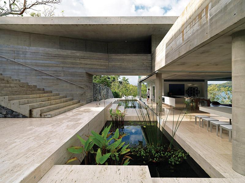 concrete luxury home
