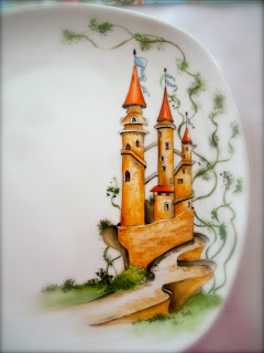 PLATE, FAIRY, HAND PAINTINGS, table decorations ideas, CASTLE