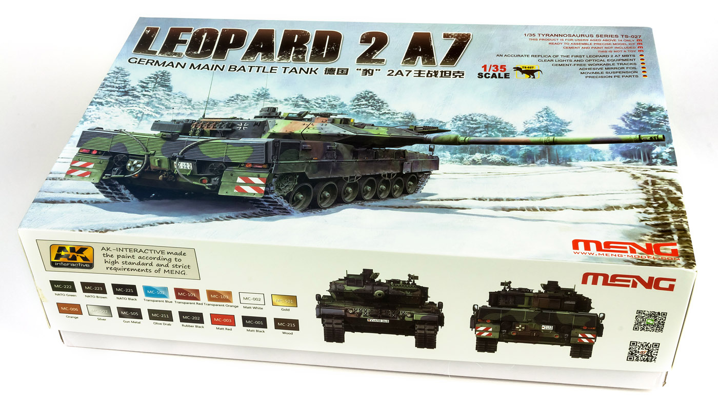 459b2188827a The Modelling News  In-Boxed  Meng s Leopard 2 A7 German Main Battle ...