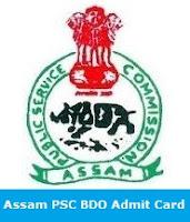 Assam PSC BDO Admit Card
