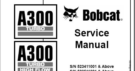Bobcat service manual ~ الموقع الأول فى الشرق الأوسط