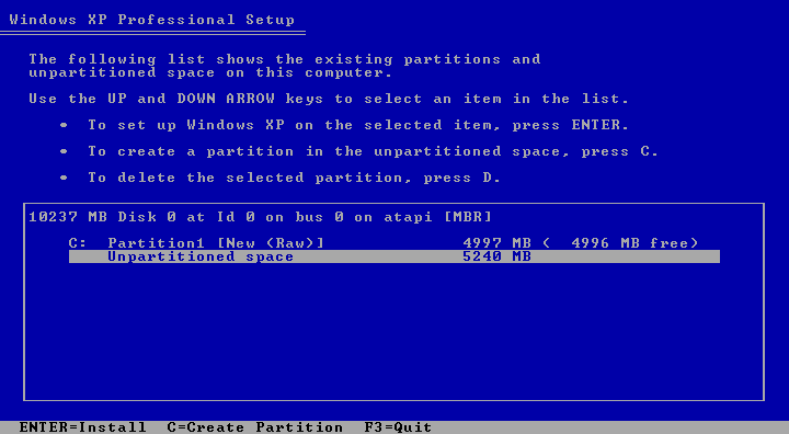 Cara Install Windows XP (Lengkap Dengan Gambar) 4