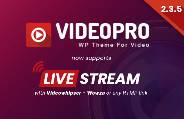 Download VideoPro v2.3.5.3 – Video WordPress Theme