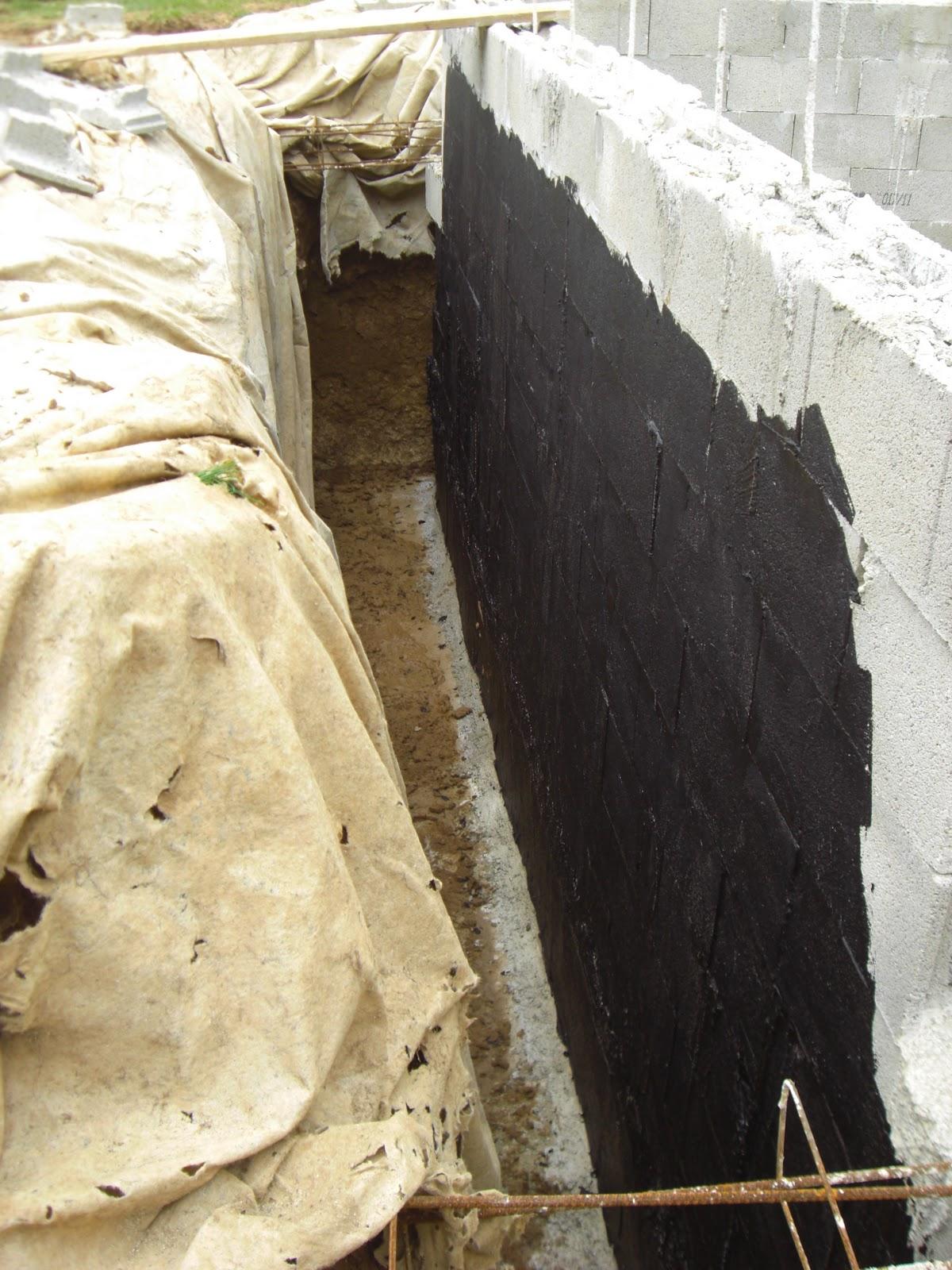 travauxadonf we 2 avril etancheite des murs au goudron. Black Bedroom Furniture Sets. Home Design Ideas