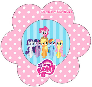 My Little Pony Free Printable Flower Invitations.