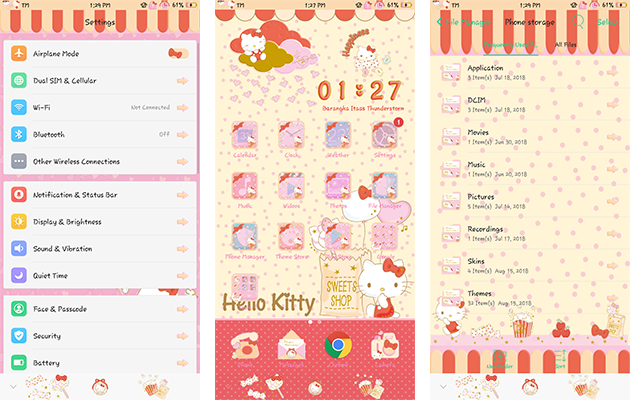 Oppo Theme: Oppo Hello Kitty Happiness Theme