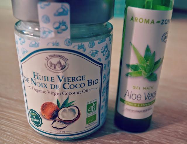 aloe vera, huile de coco