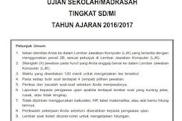 Soal Try Out UN / US SD 2017 dan Kunci Jawaban