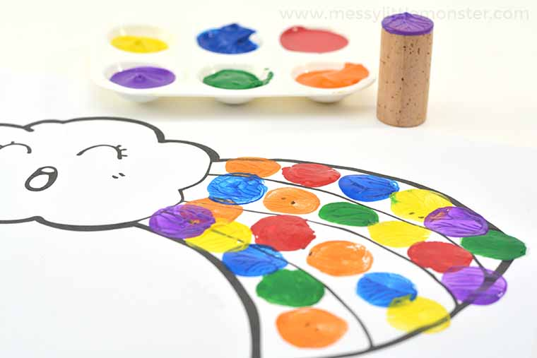 easy rainbow project for preschoolers