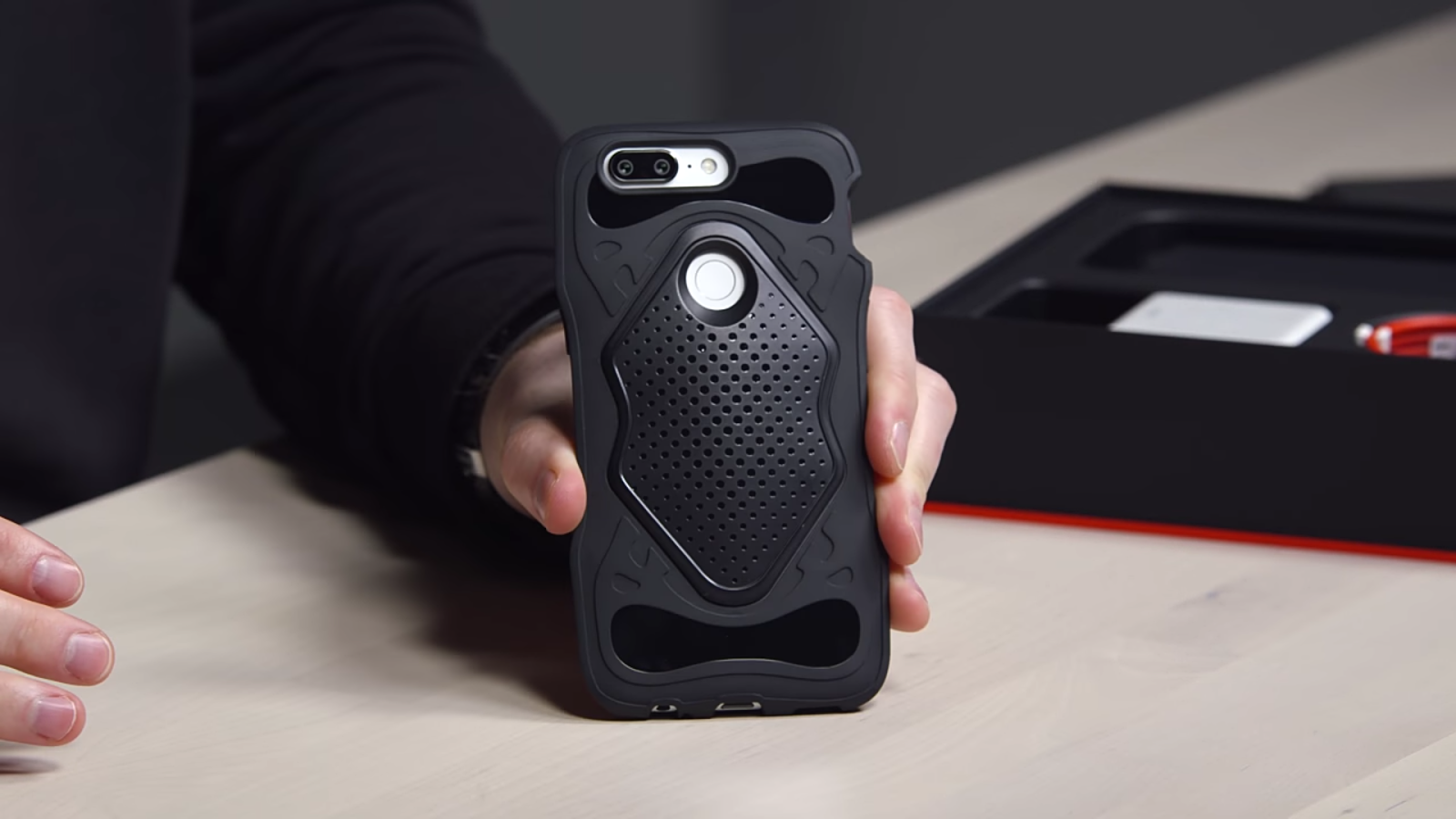 the protective casing