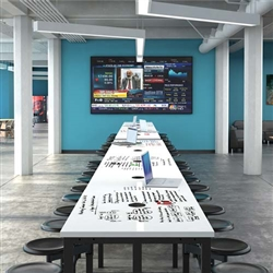 Powered Standing Height Conference Table