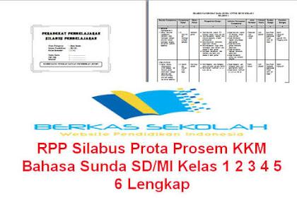 RPP Silabus Prota Prosem KKM Bahasa Sunda SD/MI Kelas 1 2 3 4 5 6 Lengkap
