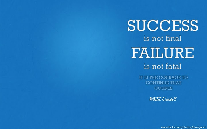 Winston Churchill Success Quote HD Wallpaper