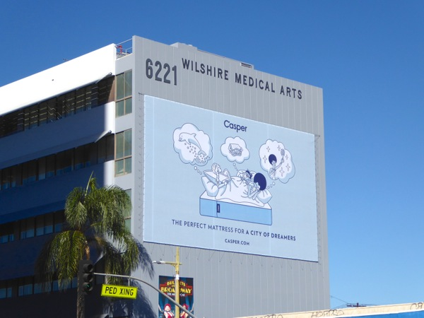 Casper Perfect mattress city of dreamers billboard