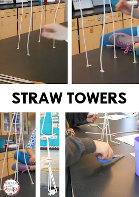 STEM Challenge: Twelve straws was hard! Most kids wanted to build a very, very tall tower and use those spindly legs as the support base. What do you think happened?