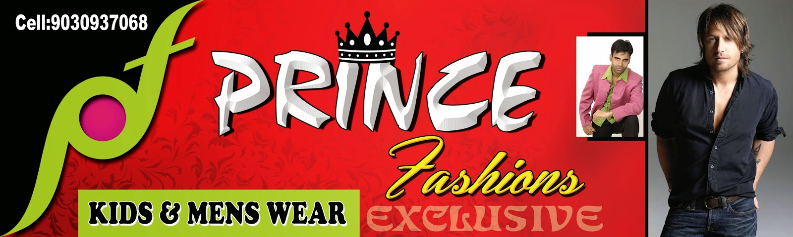 Prince Fashions Flex Banner Design Template Naveengfx